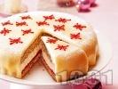 Рецепта Коледна марципанова торта